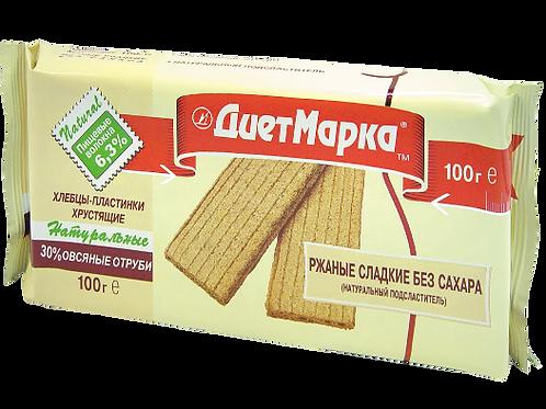 Хлебцы-пластинки РЖАНЫЕ с овсяными отрубями, сладкие»