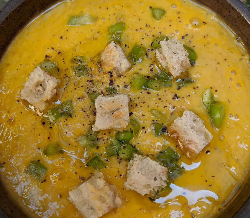 Gazpacho with Yellow Tomatoes
