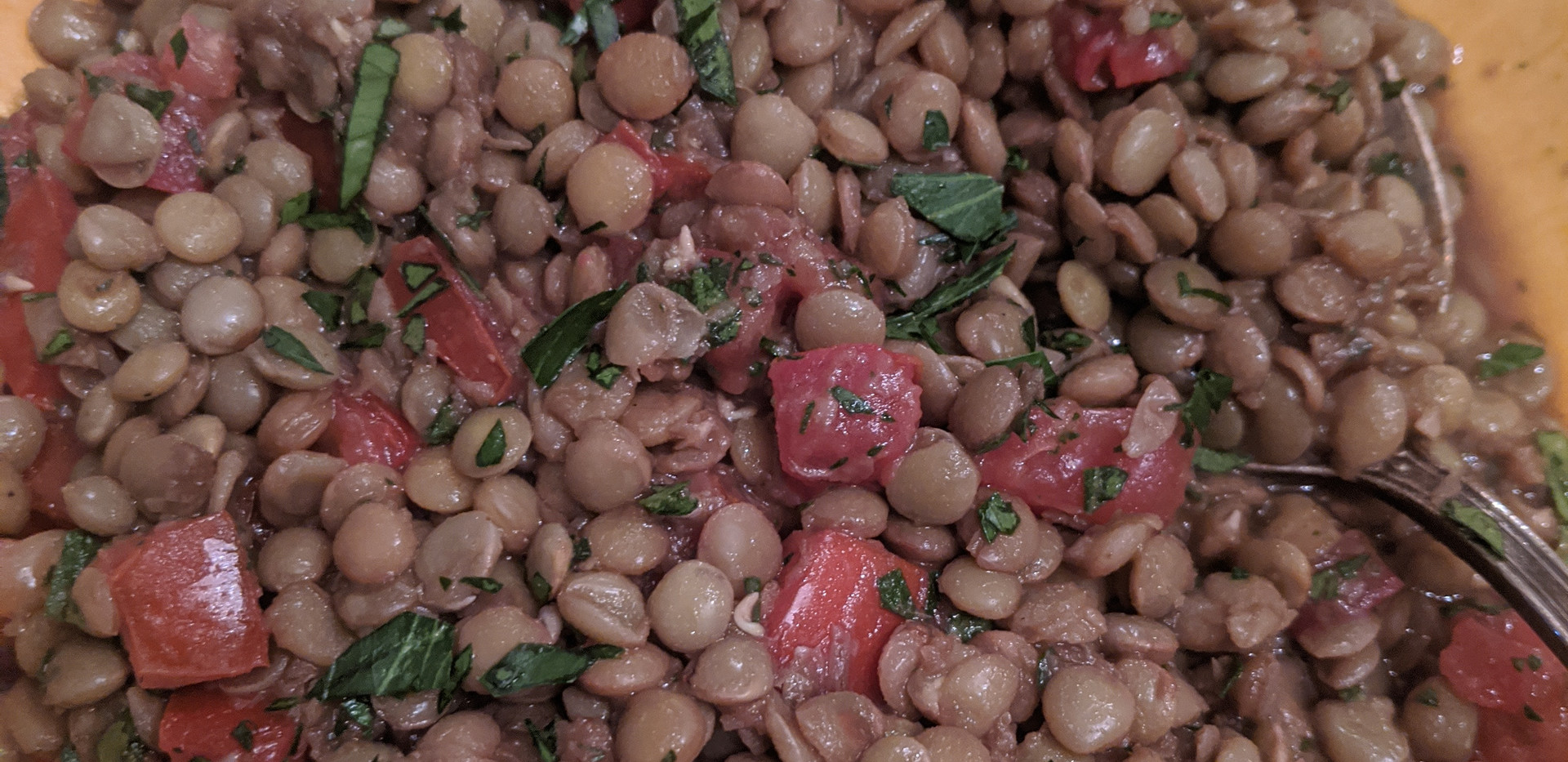 Lentils with Tomato, Parsley, & Balsamic