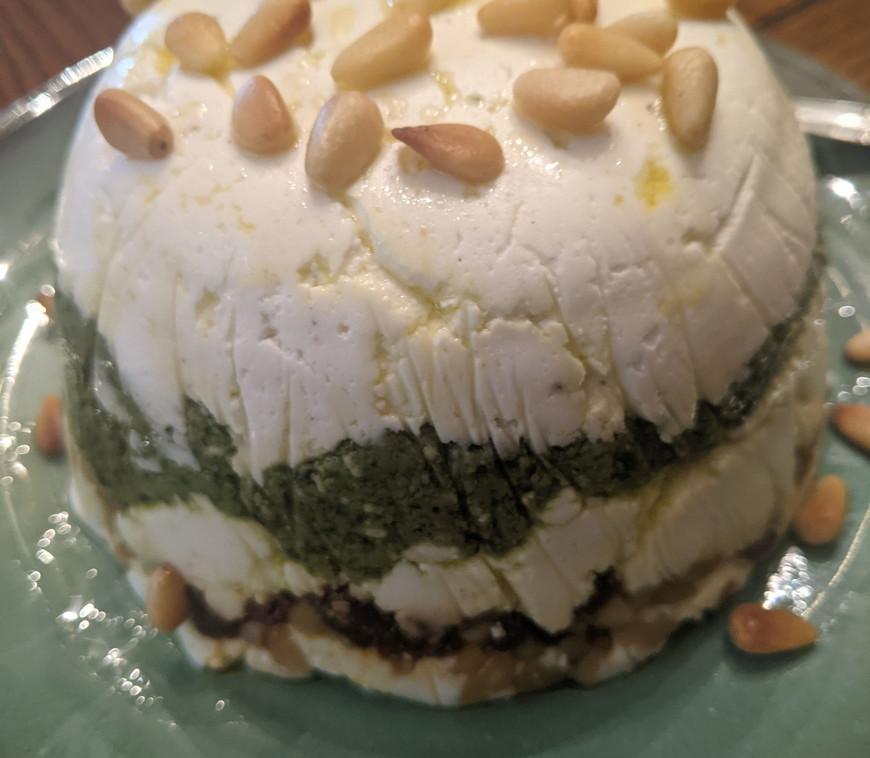 Goat Cheese Torta w-Pesto
