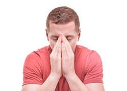 man-praying-isolated-white-background-82781632