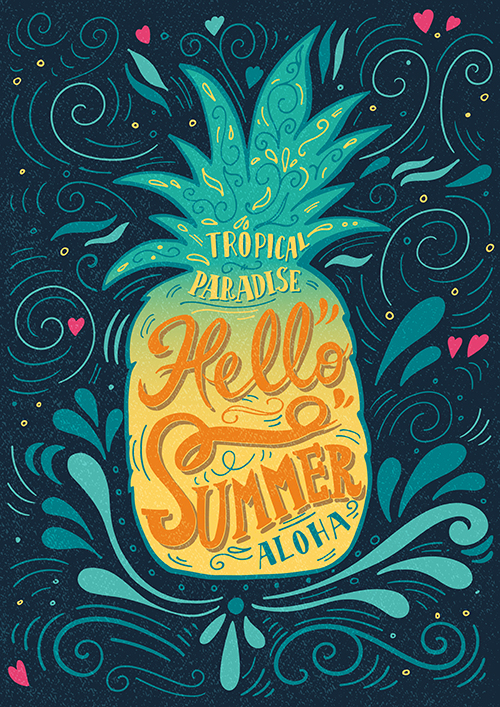 Lettering illustration