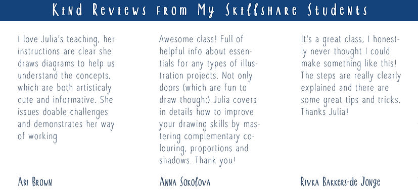 Skillshare classes with Julia Henze - students' reviews