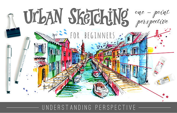 Skillshare class with Julia Henze: Urban Sketching for beginners - One-Point Perspective