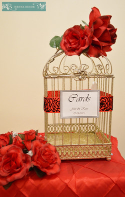 Royal Red Gold Birdcage