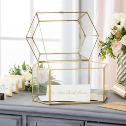 Gold Glass card holder