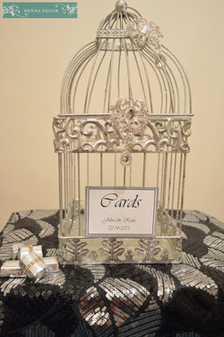 Silver Bling Birdcage