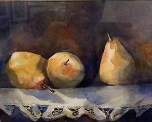 "Maureen Brookfield ""Golden Pears"" watercolor $425.jpeg"
