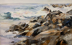 "P. Anthony Visco ""Shore's Rock"" oil $675.jpeg"