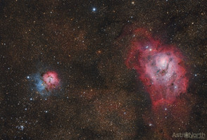 Trifid and Lagoon Nebula
