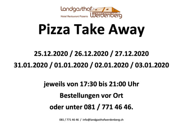 Pizza Take Away Angebote