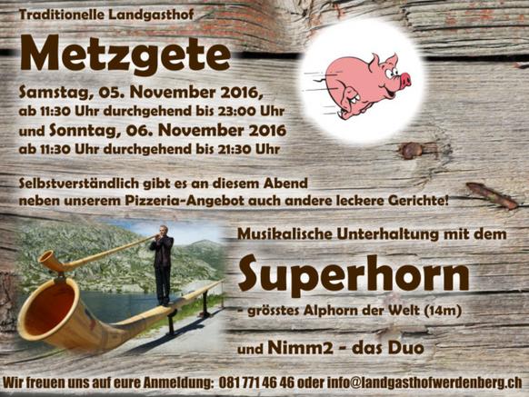Metzgete 5. - 6. November 2016