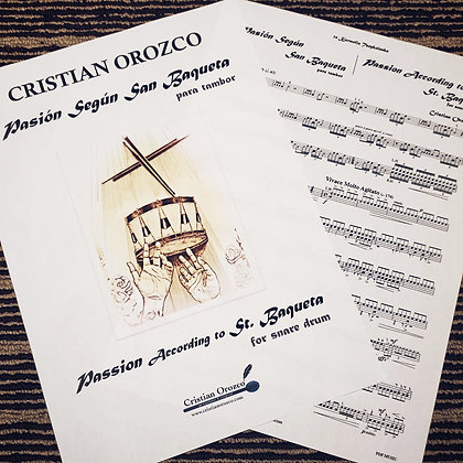 """""""PASSION according to St. BAQUETA"""" for snare drum"""