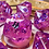 Thumbnail: Pink and purple Starbursts - 7pc dice set