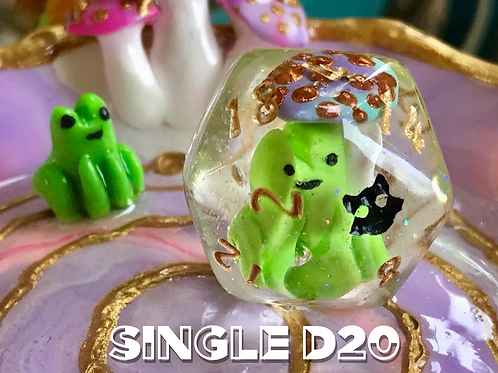 Froggy and Mushroom- Single d20