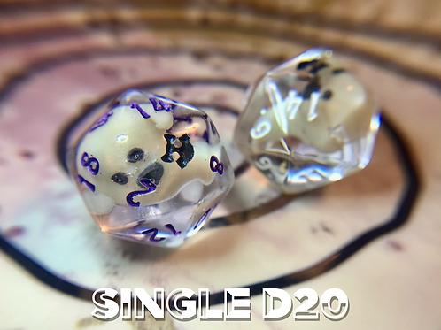 Glow in the Dark Ghosty- Single d20