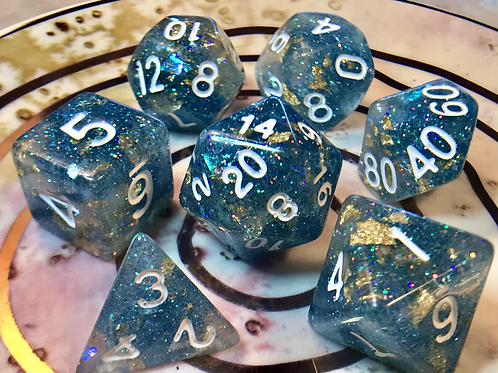 Icy blue- 7pc dice set