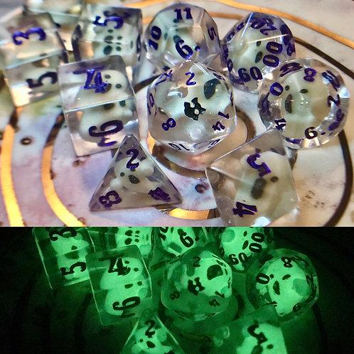 Ghosty(purple ink) - 10 pc dice set