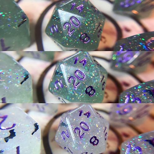Swamp Bats - 7 pc thermal color-change dice set