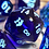 Thumbnail: Deep Blue Starbursts- 7pc dice set