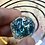 Thumbnail: Glitter Shaker d20 - Blue and Green shards Single d20
