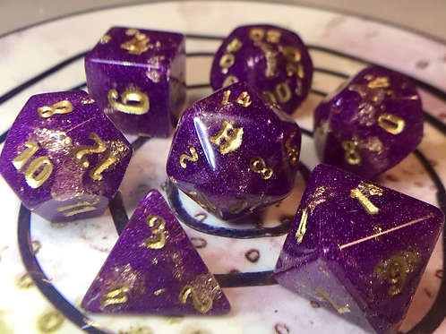 Royal Purple- 7pc dice set