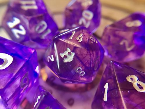 Purple Swirl- 7pc dice set