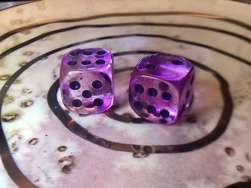 Light Purple swirl- Set of (2) 12mm d6