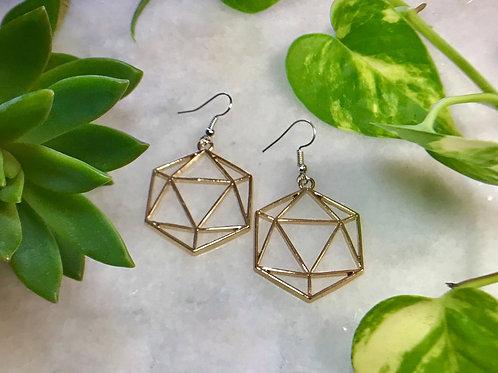 D20- Dice Earrings