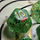 Thumbnail: Green and Red Bats- 7pc dice set