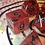 Thumbnail: Red with Bats- 7pc Dice Set
