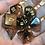 Thumbnail: Orange/Black Bats 7pc dice set