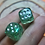 Thumbnail: Green Starbursts- Set of (2) 12mm d6