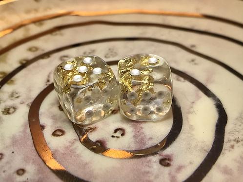 Gold Foil- Set of (2) 12mm d6