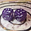 Thumbnail: Purple/ silver starbursts - Set of (2) 12mm d6