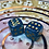 Thumbnail: Blue/gold foil- Set of (2) 12mm d6