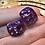 Thumbnail: Purple bats/Silver shards- Set of (2) 12mm d6