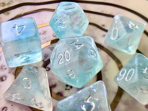 Aquamarine (light) - 7pc dice set