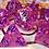 Thumbnail: Pink and purple Starbursts - 7pc dice set