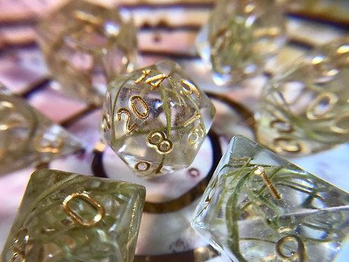 Spanish Moss - 7pc dice set
