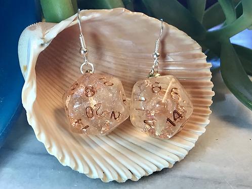 Sanctuary d20- Handmade Dice Earrings