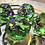 Thumbnail: Green and Purple Bats- 7pc dice set