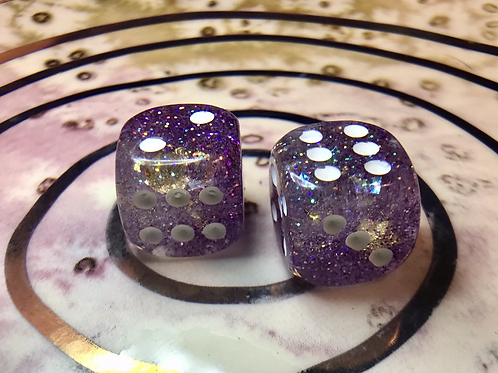 Icy purple- Set of (2) 12mm d6