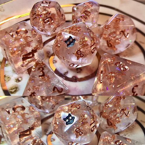 Thermal pink/copper- 7pc dice set
