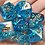 Thumbnail: Blue iridescent Copper ink- 7pc dice set
