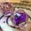 Thumbnail: Purple w/Bats- Shaker d20 - Single d20