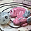 Thumbnail: Sleepy Dice Dragon- pink/white/silver