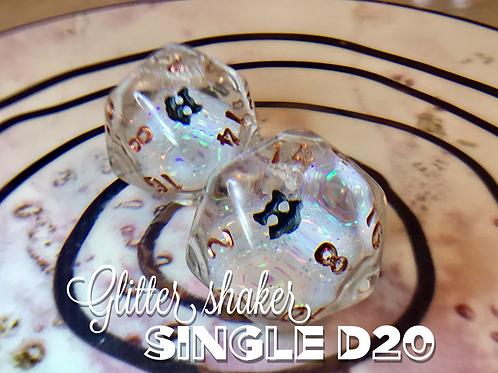 Glitter Shaker d20 - Plain Glitter Single d20