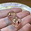 Thumbnail: Glow Pink and Gold Hearts- Set of (2) 12mm d6
