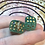Thumbnail: Green and gold foil -set of (2) 12mm d6